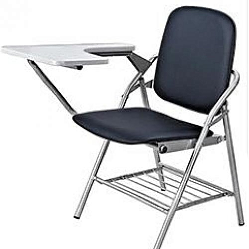 Folding Study Or Training Chair With Writing Pad