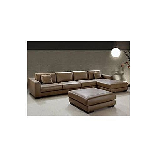PAWA FURNITURE 'TORUGA' L-SHAPED SUPER QUALITY LEATHER SOFA .Order Now And Get OTTOMAN Free (DELIVERY ONLY IN LAGOS)