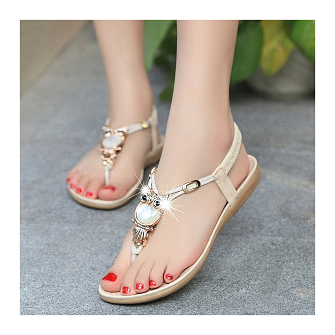 Women Sandals Thong T Strappy Flat Slingback Beach Shoes Casual Slipper