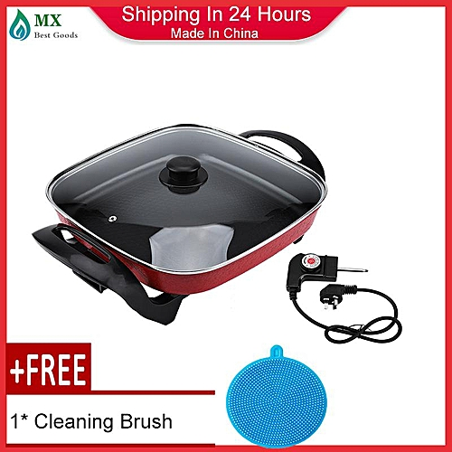 [free Gift] 5L Multifunctional Electric Hot Pot Cookware Non-stick Cooking Pot Fry Bake Boil 220V CN Plug