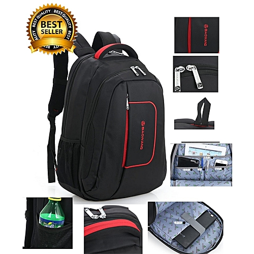 100% Premium Quality Laptop Bag With 9 Compartments.Travel Bag/School Bag/Backpack Bag For Laptop,Tablets,Phone,Watches.Etc.With Quality Quality Zipper,Strong Stitches. BLACK
