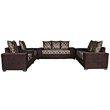 PAWA FURNITURE BROWN  7 Seater Sofa with A FREE OTTOMAN' (Delivery To Lagos Only) for sale  Nigeria