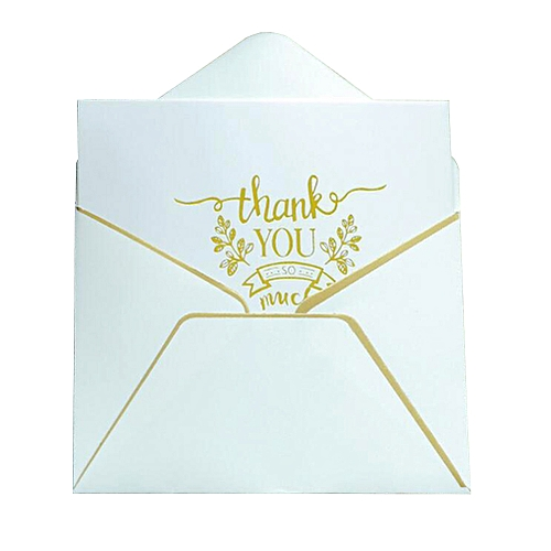 50 Thank You Cards With Envelopes - Gold Stamping Process, Perfect For Wedding, Birthday, Baby Shower,Graduation, Business