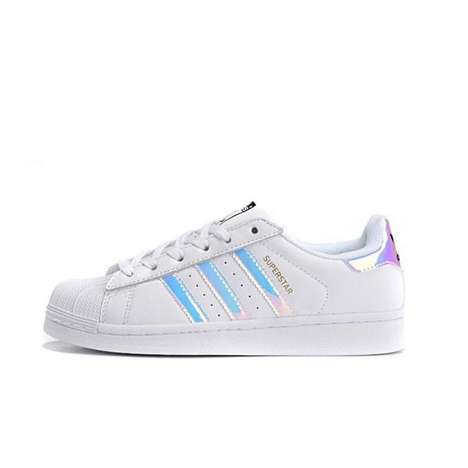 huge discount bbfb4 89c88 Superstar Women White Laser Shoes