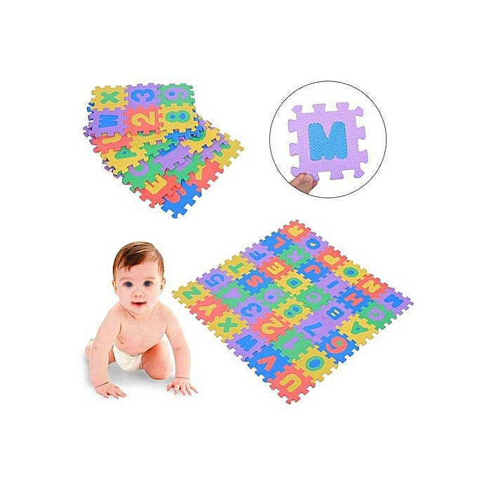 ... 36Pcs Soft EVA Numbers & Letters Foam Play Mat Baby /Children Playing Crawling Toy