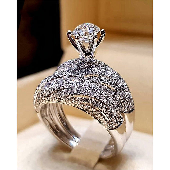 3f6ceb0ffe267 New Flash Diamond Engagement Ring Ladies Fashion Jewelry