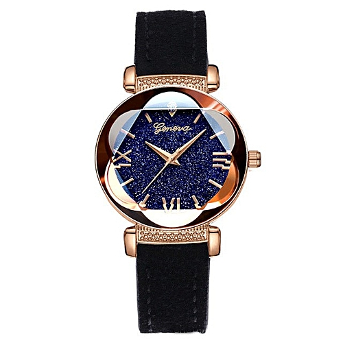 Ladies Elegant Quartz Wristwatch - Black
