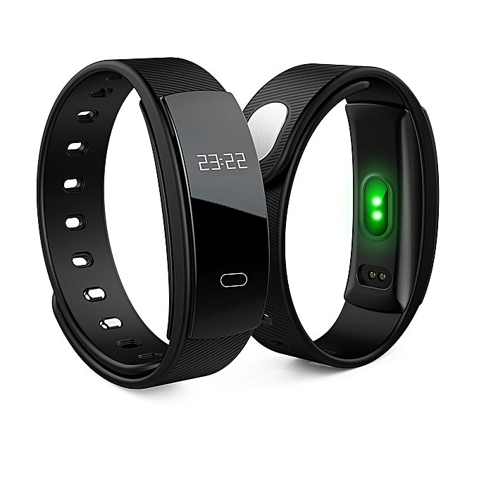 Smart Bracelet QS80 Heart Rate Smart Band Blood Pressure Monitoring Smart Wristband Fitness Tracker For IOS Android -Black