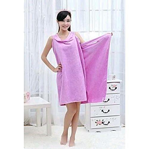 Comfortable Wearable Towel Bath-Ta-Robe - Pink