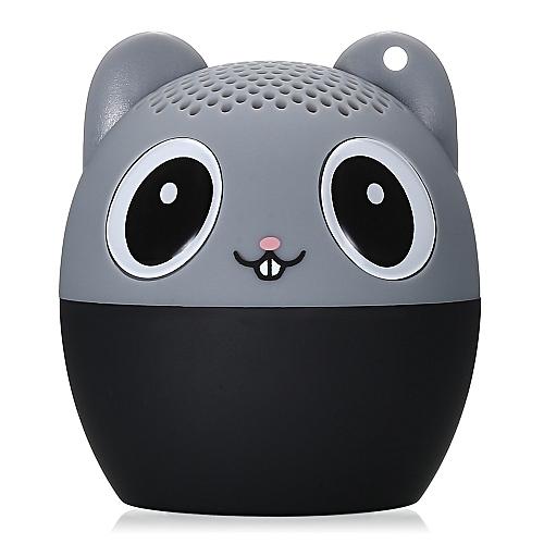 BM6D Mini Bluetooth Speaker Portable Animal Wireless Player-BLACK AND GREY