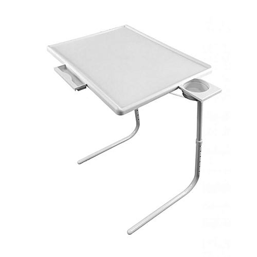Adjustable Tablemate With Cup Holder - White