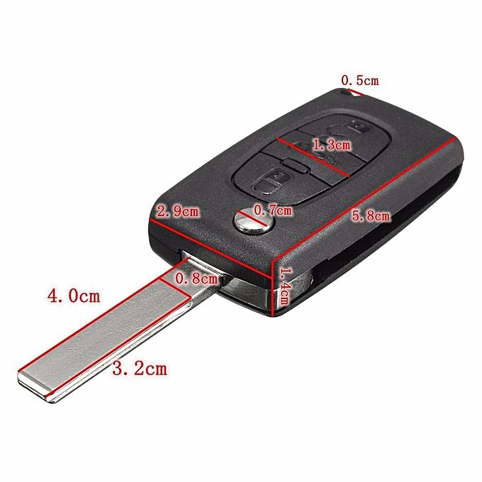 2X Fits Peugeot 407 3 Button Remote Flip Key FOB Repair Refurbishment Kit