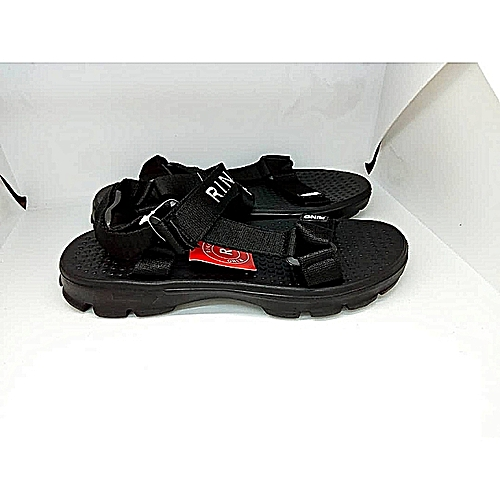 Fashion Unisex Rocker Bam Sandals - Black