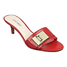 357607ae2705 Women  039 s Fancy Leather Sandal - Red And Silver