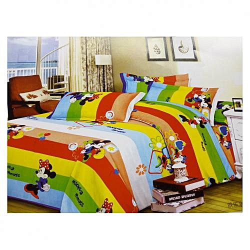 Classic Micky Mouse Duvet And Bedspread With 4 Pillow Case