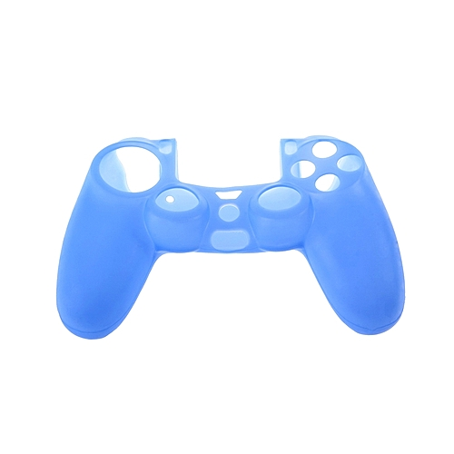 Allwin Silicone Rubber Case Skin Cover For Sony PS4 Controller Grip Handle Console-Blue