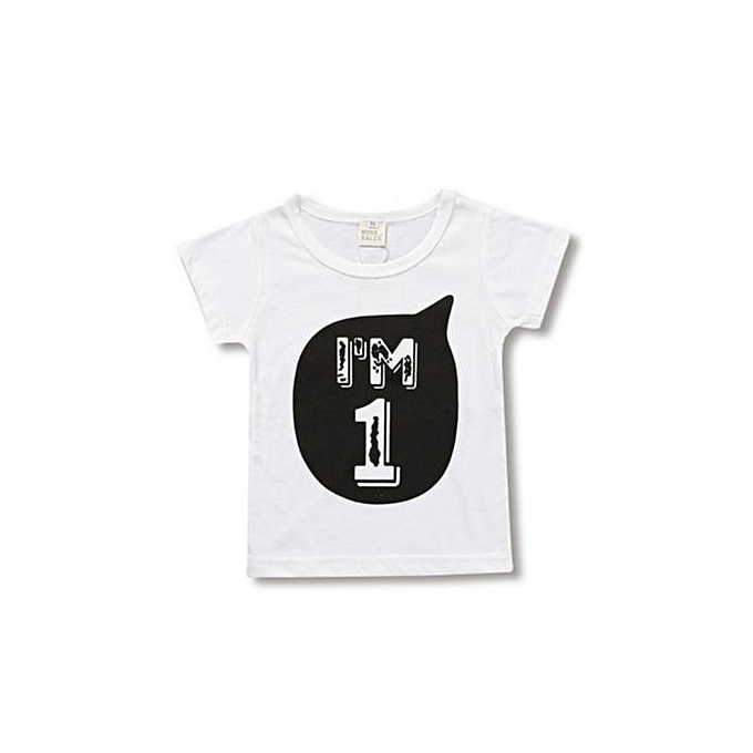 3014440f Fashion Boy Girl Toddler Children Birthday T- Shirt | Jumia NG