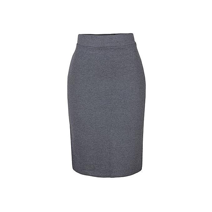 5529b41a9d Fashion Bodycon Midi SKirt - Grey | Jumia NG