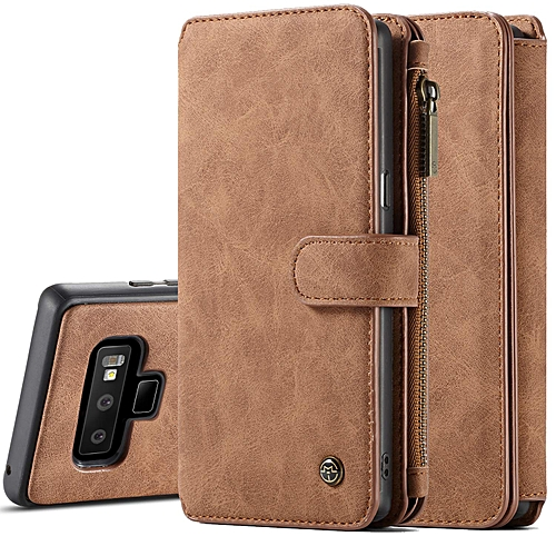new concept b55b7 b4533 Galaxy Note 9 Case, Note 9 Detachable Magnetic Leather Wallet Folio Flip  Card Slot Case With Removable Slim Back Cover For Samsung Galaxy Note 9- ...