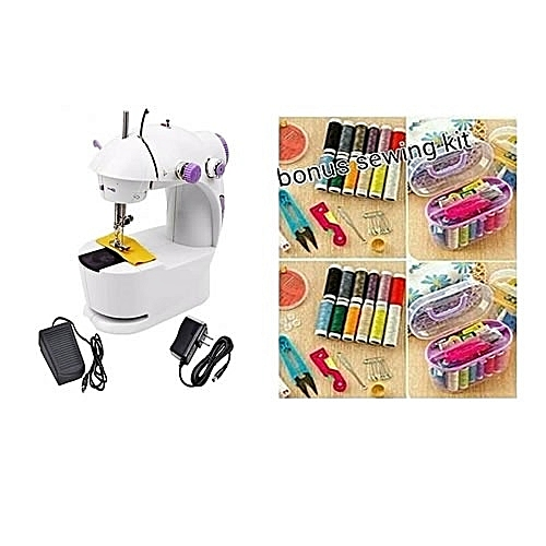 Mini Sewing Machine + Free Gift Of Sewing Kit