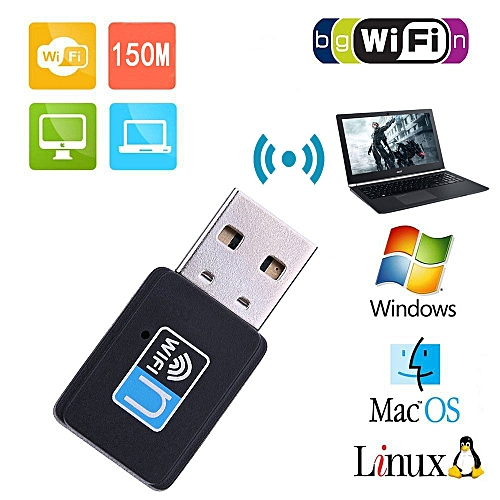 Wireless Wifi 150Mbps Mini High Speed USB Adapter-black