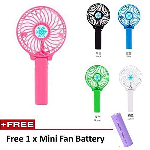 Hand Fan Portable Mini USB Fan - Multicolor
