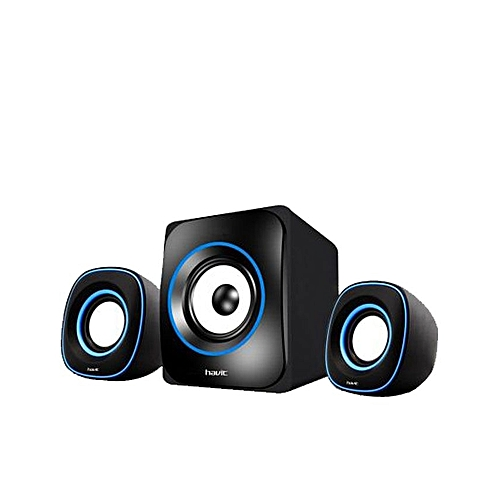 Havit Mini Subwoofer Speaker HV-SK 450 - Black/Blue | Jumia