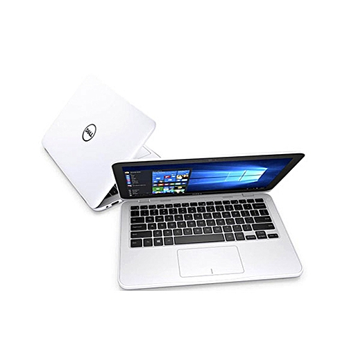 """Inspiron 3168 CONVERTIBLE 2-IN-1 Intel Pentium N3710,1.6GHz,500gb/4gb,Touch,No Dvd Rom,""""11""""(1366x768),Win10 + 32GB FLASH DRIVE-WHITE"""