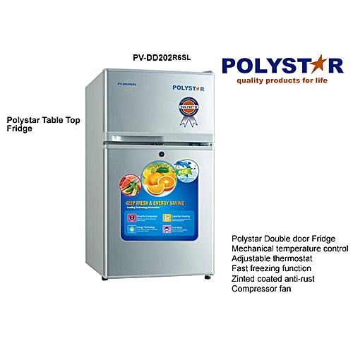 Double Door Table Top Refrigerator (80 Liters Fridge)