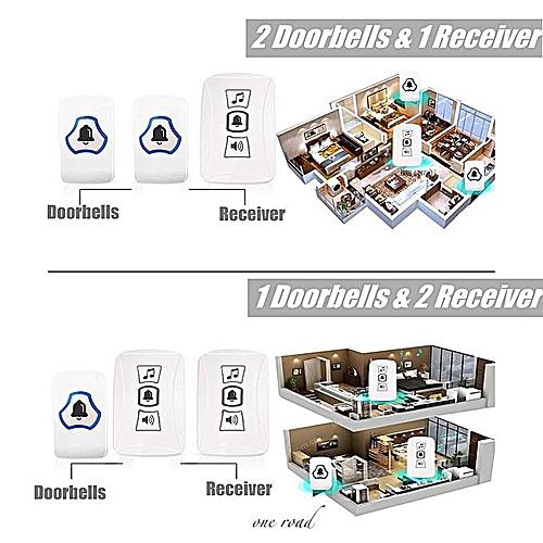Wireless Door Bell Wifi Long Range Doorbell Waterproof Transmitter