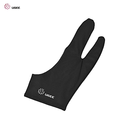 Free Size Two-Finger Drawing Glove Anti-fouling Black Suitable For Right &  Left Hand For Artist Tablet Drawing