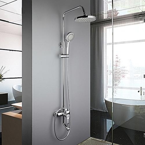 FRAP F2418 Bathroom Wall Mounted Rainfall Shower Handheld Shower Head Mixing Faucet Equipment Sets