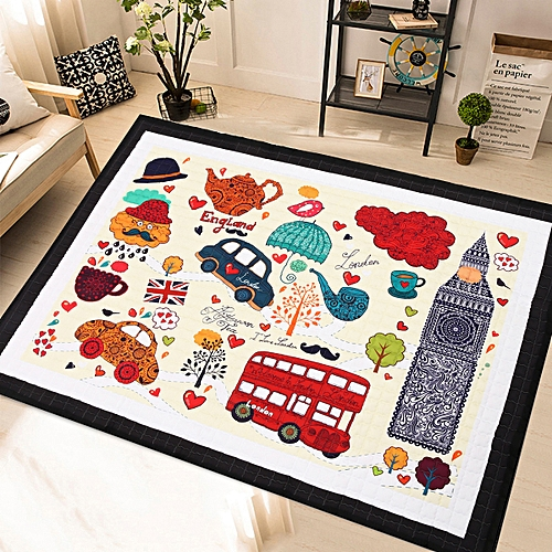 195X145cm Soft Baby Kid Play Mat Rectangle Crawling Rug Carpet Floor Blanket