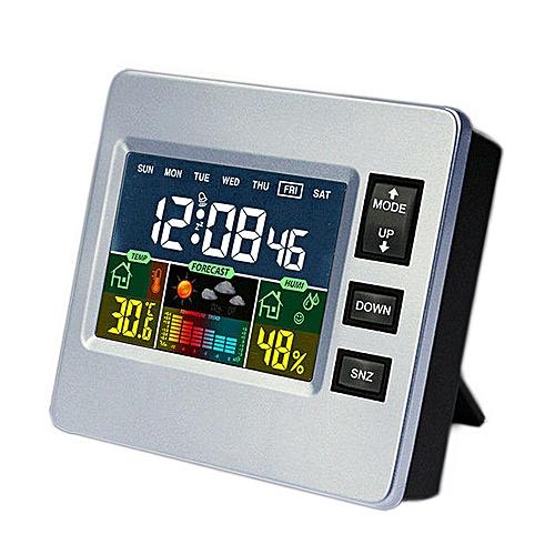 Loskii DC-07 Digital Temperature Hygrometer Alarm Clock Calendar Snooze With Backlit Function