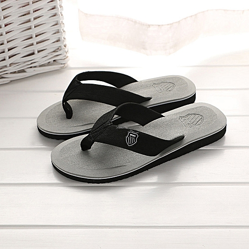 Jiahsyc Store Men's Summer Flip-flops Slippers Beach Sandals Indoor&Outdoor Casual Shoes-Gray