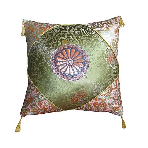 Throw Pillow - Green &Gold