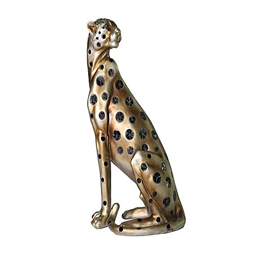 Stretching Leopard Figurine