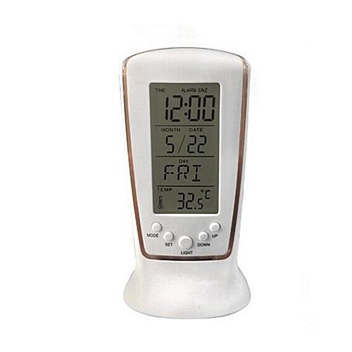 Noctilucent Music Timer Alarm Clock Temperature