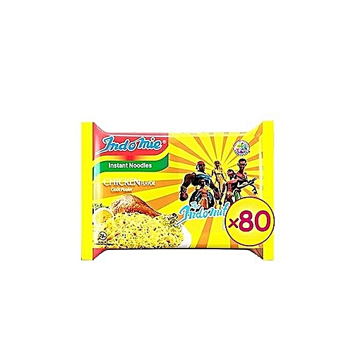 Chicken Flavour Instant Noodles - 70g (2 Cartons) 80 Packs.