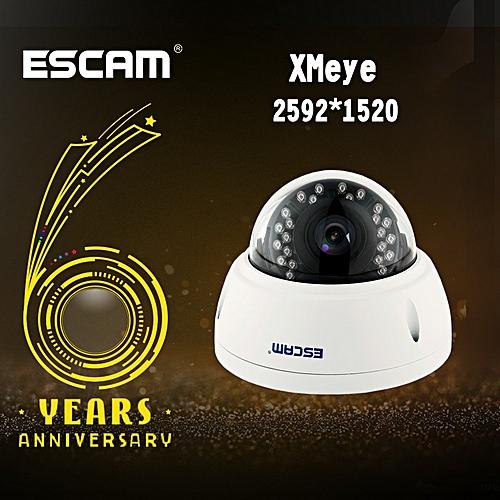 Escam QD420 Dome IP Camera H.265 4MP 1520P Onvif P2P IR Outdoor Surveillance Night Vision Security CCTV Camera Android IPhone CUI WOT