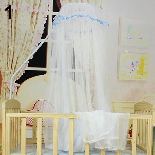 Baby Bed Mesh Dome Curtain Mosquito Net Durable Toddler Crib Cot Canopy Bed Net-Blue & Sanwood Baby Bed Mesh Dome Curtain Mosquito Net Durable Toddler ...