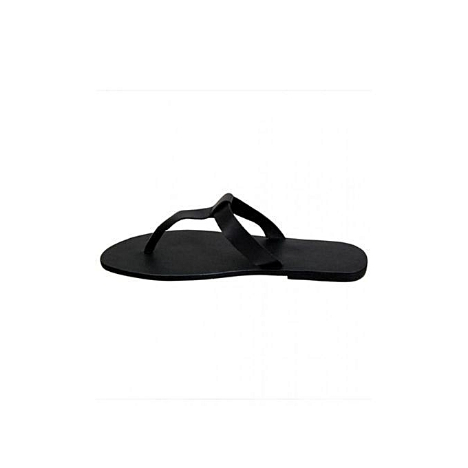 5bc4a6cbede6 Fashion KINGS Simple Slippers - Black