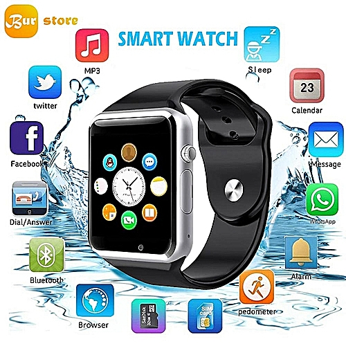 Burstore A1 Bluetooth Touch Screen Smart Wrist Watch Waterproof GSM Phone  For Android Samsung IPhone IOS HT