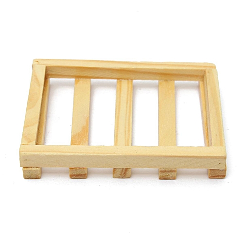 8.5x6cm Wood Kitchen Bathroom Sponge Soap Dish Plate Box Holder Container Shelf