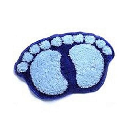 Fluffy Bathroom Foot Mat - Blue Or Any Random Colour