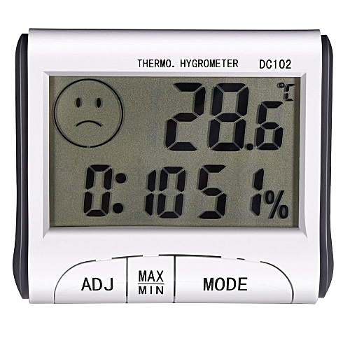 Hygrometer Alarm Clock Convenient ABS LCD Display 8*7*2CM Home Supplies Gadget Digital Thermometer Gift Humidity Meter
