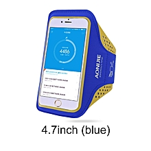 """Used, Arm Belt Phone Bag Outdoor Ultra Light Sport Running Bag Transparent Phone Case Cycling Arm Band Bag For 4.7""""/5.5"""" Phone(S Blue) for sale  Nigeria"""