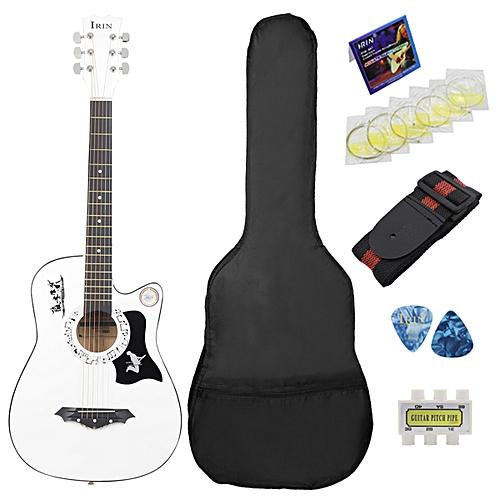 38'' 6 String Wood Acoustic Guitar Beginner Practice With Bag Multicolor Kid Gif