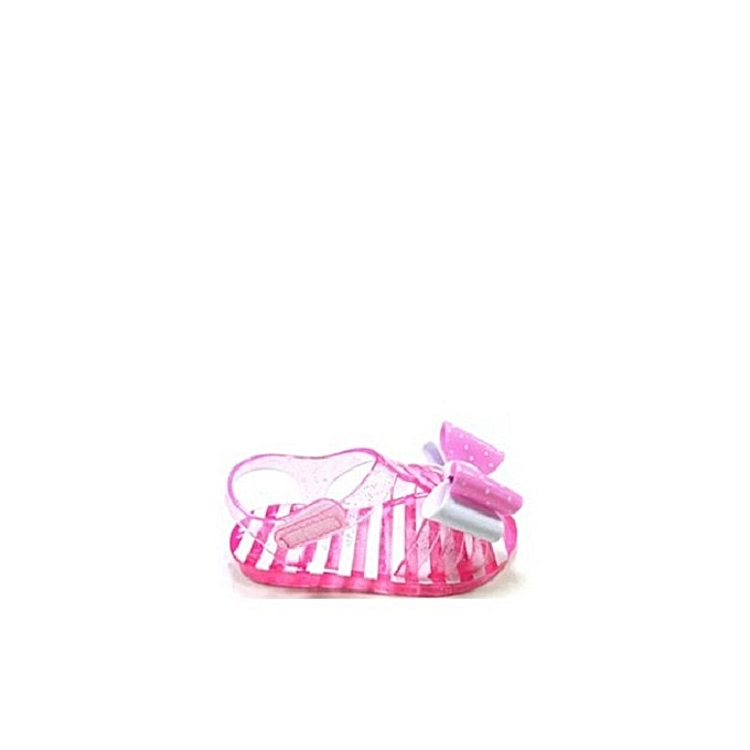11dbbd64b ... Pink Wonder Nation Toddler Girls' Polka Double Bow Jelly Sandal- ...