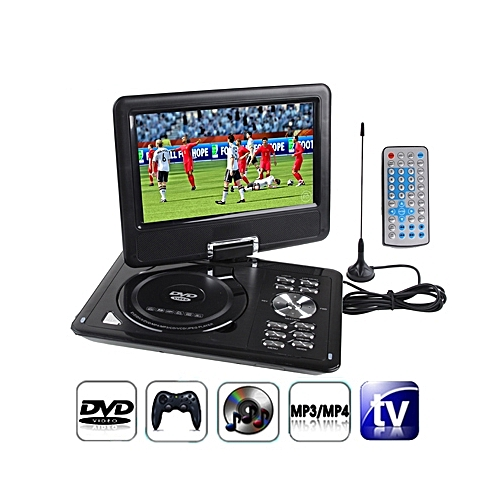 9.5 Inch TFT LCD Screen Digital Multimedia Portable DVD With Card Reader & USB Port, Support TV (PAL / NTSC / SECAM) & Game Function, 180 Degree Rotation, Support SD / MS / MMC Card
